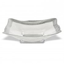 "$80.50 Bowl - Square 12"" Silver Leaf"