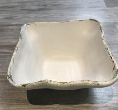 $75.00 Bowl Sq Deep Charming White