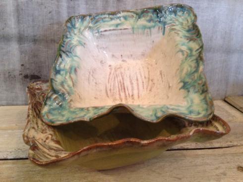 Etta B Pottery   Serving Bowl Square Large - Opal Blue $158.00