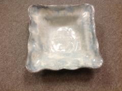 Etta B Pottery   Bowl Sq Medium Opal Gray $75.00