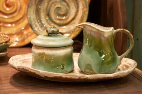 Etta B Pottery   Sugar Bowl - Blue $44.00