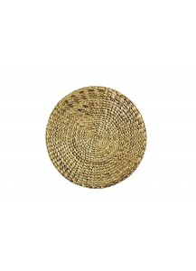 Montes Doggett   Placemat - Round Water Hycinth $15.00