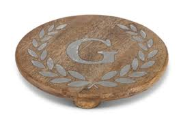 GG Collection   Trivet with Initial $48.00