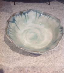 Etta B Pottery   Bowl Vegetable Opal Blue $64.00