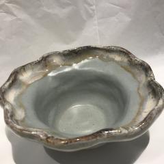 Etta B Pottery   Bowl Wavy Sm Peaceful Waters $37.50