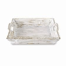 Tray Wood White Beaded collection with 1 products
