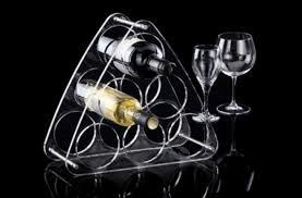 $45.00 Wine Rack 6 Bottle Lucite