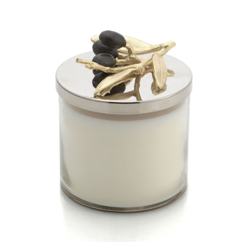 $60.00 Olive Branch Gold Candle