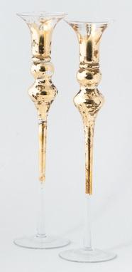 Tamara Childs   Gold Leaf Taper Candlestick $65.00