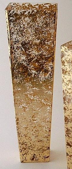 Tamara Childs  Gold Tapered Gilded Vase 20 $168.00