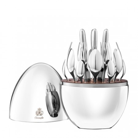 $1,190.00 24-Piece Silver Plated Flatware Set with Storage Capsule - For Six People