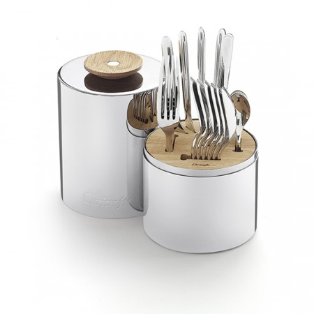 $600.00 24-piece Stainless Steel Set with Storage Capsule - For 6 People