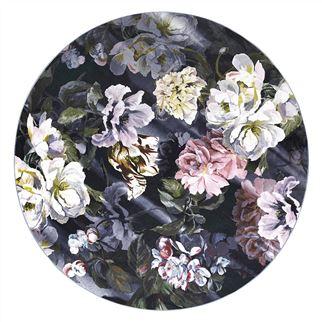 $2,650.00 Delft Flower Noir Round Rug