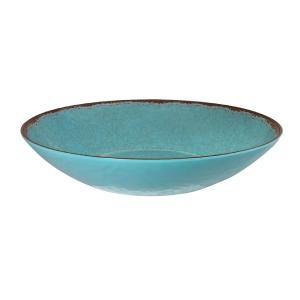 Le Cadeaux   Turquoise Oval Serving Bowl  $26.95