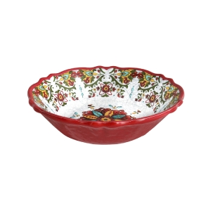 $14.50 Allegra Red Cereal Bowl