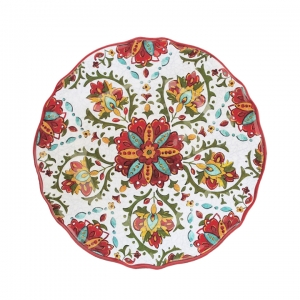 "$16.95 Allegra Red 11"" Dinner Plate"