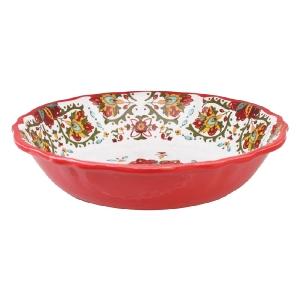 Le Cadeaux   Allegra Red Salad Bowl  $36.95