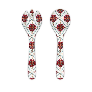$12.50 Allegra Red Salad Tong Set