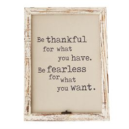 Mudpie   Be Thankful  Wall Frame  $65.00