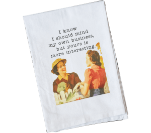 Mind My Business Dish Towel  collection with 1 products