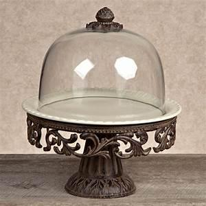 Gracious Goods   Cake Pedestal with Dome Stand  $245.00