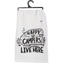 $9.99 Happy Camper Dish Towel