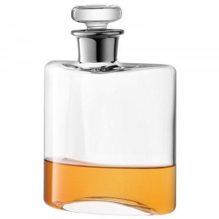 LSA International   Flask Clear/Platinum Neck $80.00