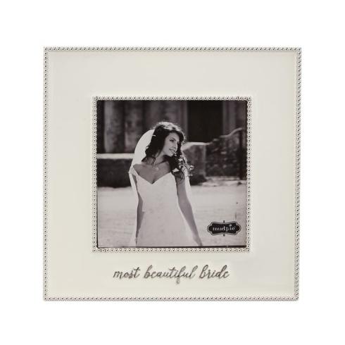 Mud Pie   Beautiful Bride Enamel Frame  $29.95