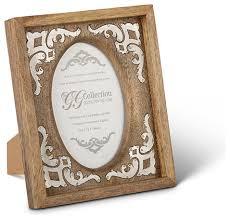 Gracious Goods   5x7 Wood Metal Inlay Frame  $53.00