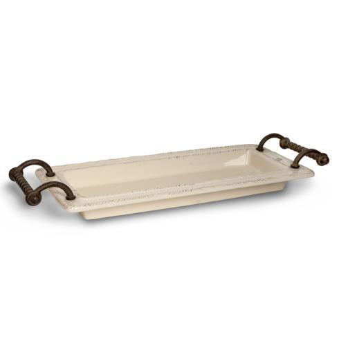 """$101.00 19"""" L Rectangular Ceramic Tray"""