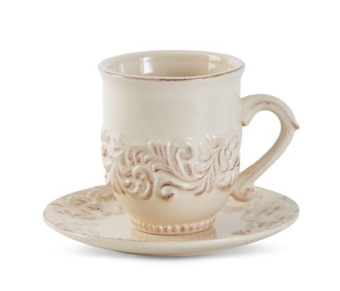 16oz. Acanthus Cup & Saucer Set of 4  collection with 1 products