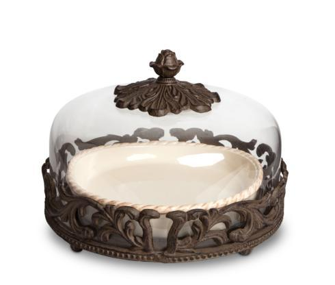 Gracious Goods   Acanthus Pie Plate with Dome  $285.00