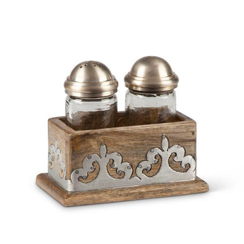 Wood with Inlay Salt & Pepper Set  collection with 1 products
