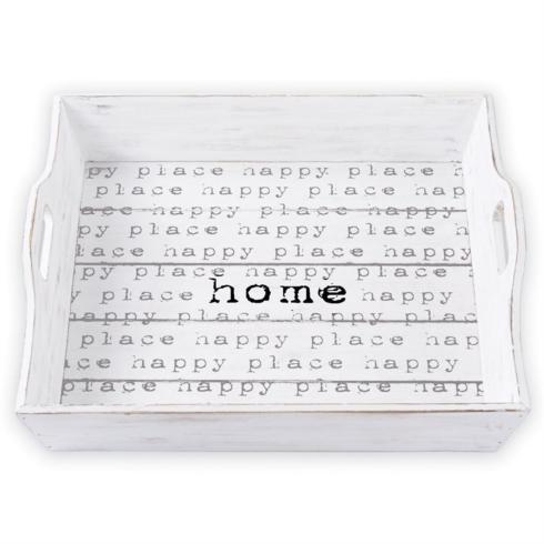 Mudpie   Happy Home Wooden Tray  $42.00