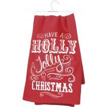 $15.00 Holly Jolly Dish Towel