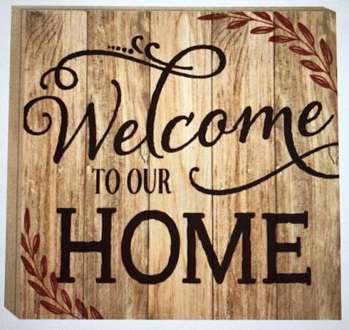 Welcome Home Sign  collection with 1 products