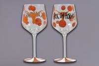 $19.95 Longhorn Stemmed Wine Glass