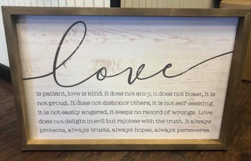 P. Graham Dunn   Love - Large Sign  $49.99