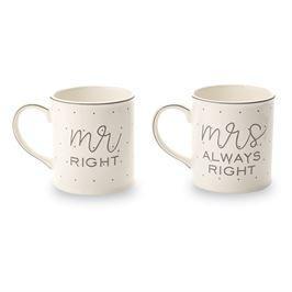 Mud Pie   Mr. & Mrs. Mug Set  $26.95