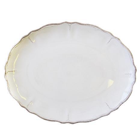 Le Cadeaux   White Scalloped Platter  $29.95
