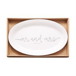Mud Pie   Mr Mrs Est 2019 Platter  $52.00