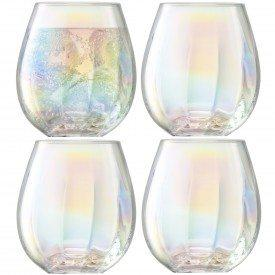 PEARL Stemless White Wine Glass Set of 4  collection with 1 products