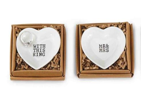 Mudpie   Assorted Heart Ring Trays  $12.95