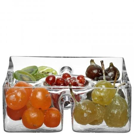 LSA International   Square Glass Platter  $68.00