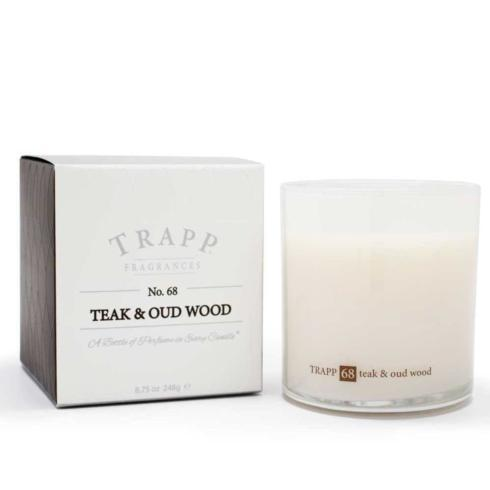 Trapp   Teak & Oad Wood Large Candle  $33.00