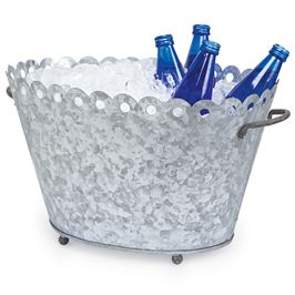 Scalloped Tin Beverage Tub collection with 1 products