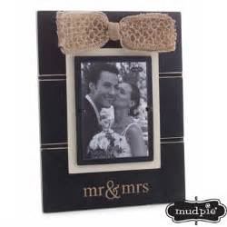Mudpie   Mr Mrs Bow Frame  $37.50