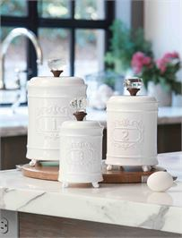 Mudpie   Circa Canister Set of 3  $106.00