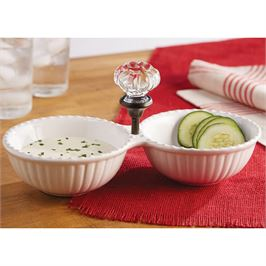 Mudpie   Door Knob Double Bowl  $31.00