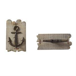 Mudpie   Lake Wood Wall Hooks $15.95